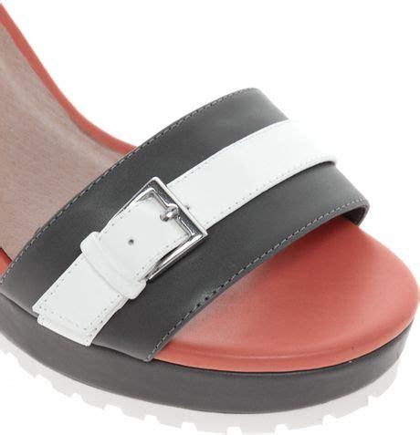 hercules sandals asos asos hercules heeled sandals in white greycoralwhite
