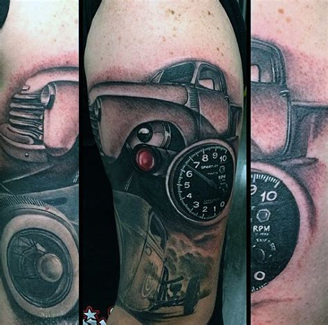 70 car tattoos for cool automotive design ideas