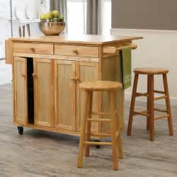 vinton portable kitchen island with optional stools hayneedle two bar amish islands
