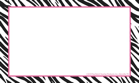 zebra printer templates for word animal print border clipart