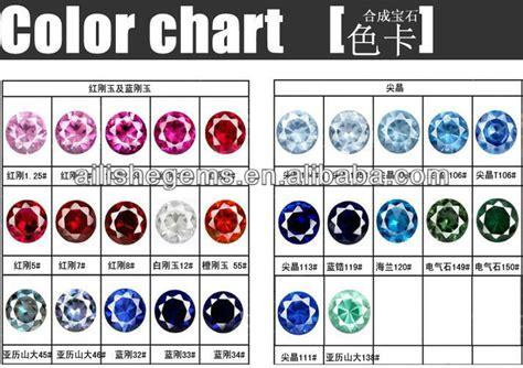 sapphire color chart 46 color change corundum magical gemstone cr009 buy