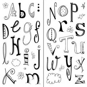 how to do doodle lettering inkadinkado doodle alphabet clear sts mis sellos