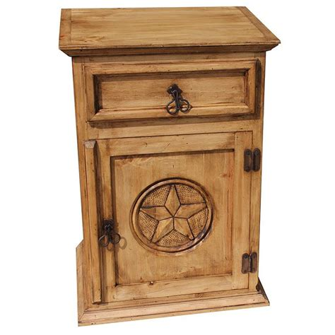 Rustic Pine Nightstand Rustic Pine Collection Nightstand