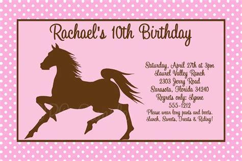 free printable horse birthday party invitations drevio horse birthday invitations free printable 4 lapsosille