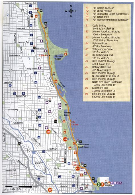 map of chicago lakefront where to bike chicago chicago tonight chicago tonight