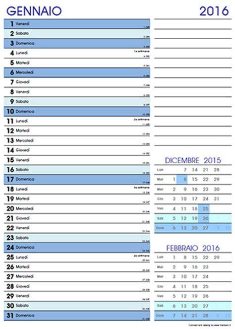 Calendario 2016 Mensile Plan | calendario 2016 mensile da stare