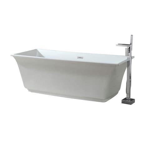 schon bathtubs schon 5 8 ft acrylic freestanding flatbottom non