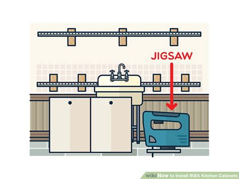 how to install ikea kitchen cabinets how to install ikea kitchen cabinets with pictures wikihow
