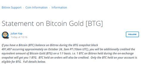 bitcoin gold bittrex bitcoin gold list of exchanges wallets supporting