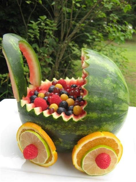 Watermelon Fruit Bowl Baby Shower by 25 Best Ideas About Watermelon Baby Carriage On