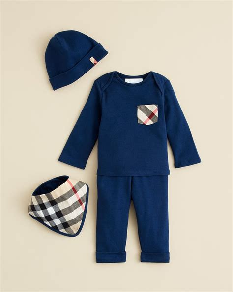 Pw Baby Boy Burberry Burberry Infant Boys Olly Hat Bib Set
