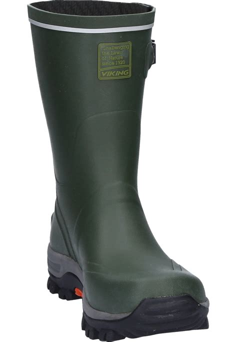rubber boot height viking trapper rubber boots a half height natural