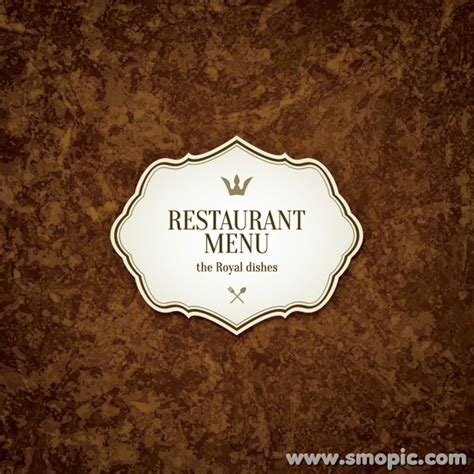 menu cover template brown retro background design restaurant menu cover