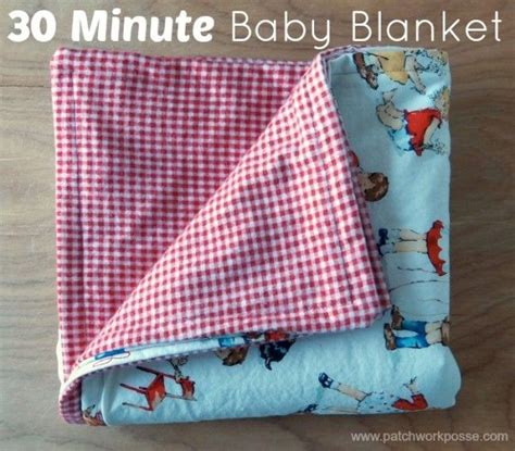Easy Baby Quilts To Sew by 30 Minute Baby Blanket Two Fabric Needed And