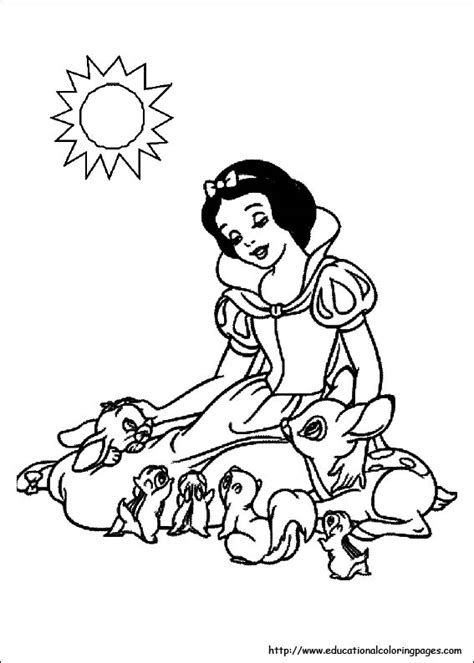 snow white coloring pages pdf snow white coloring pages free for kids