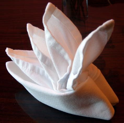 Napkins Origami - folding cloth table napkins