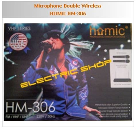 Microphone Wireless Homic Hm 306 jual microphone wireless homic hm 306 di lapak