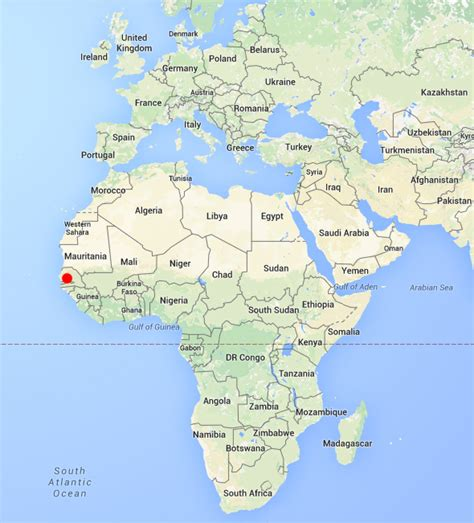 africa map gambia gambia images