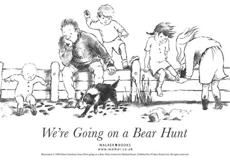 coloring page going on a bear hunt pinterest
