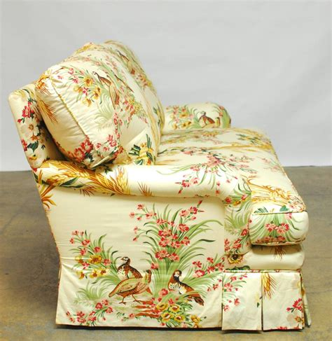 toile couch french brunschwig and fils pheasant toile sofa at 1stdibs