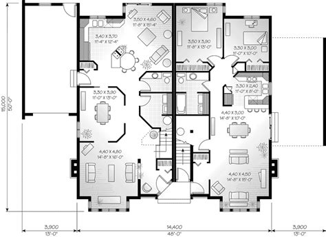 multi family house plans triplex dempsey triplex multi family plan 032d 0376 house plans