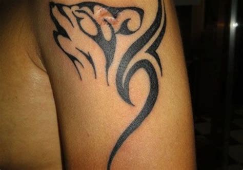 meaning behind tribal tattoos echhed wolf tribal design on sleeve http