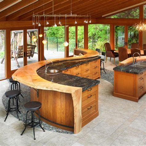 rustic kitchen island ideas amazing wood kitchen countertop ideas adding look to modern interiors