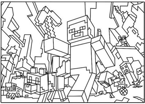 big minecraft coloring pages free big minecraft coloring pages