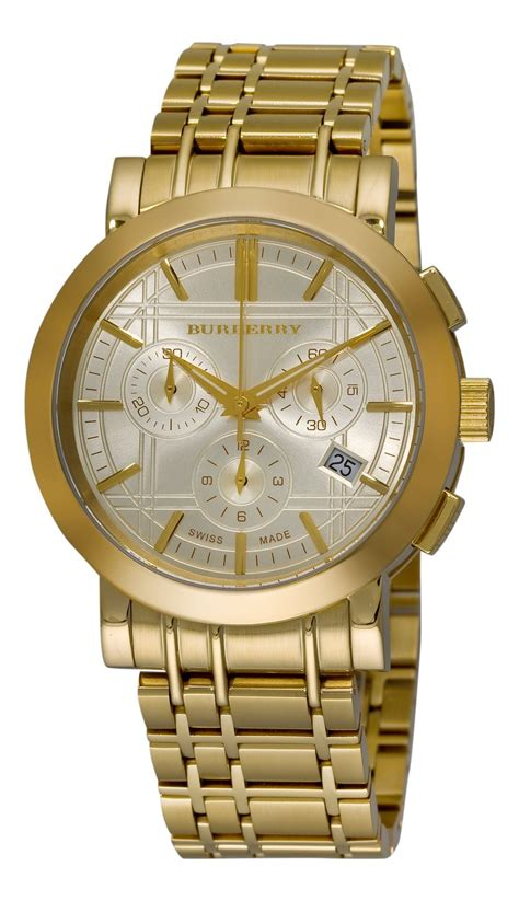 burberry bu1757 heritage gold plated stainless steel s