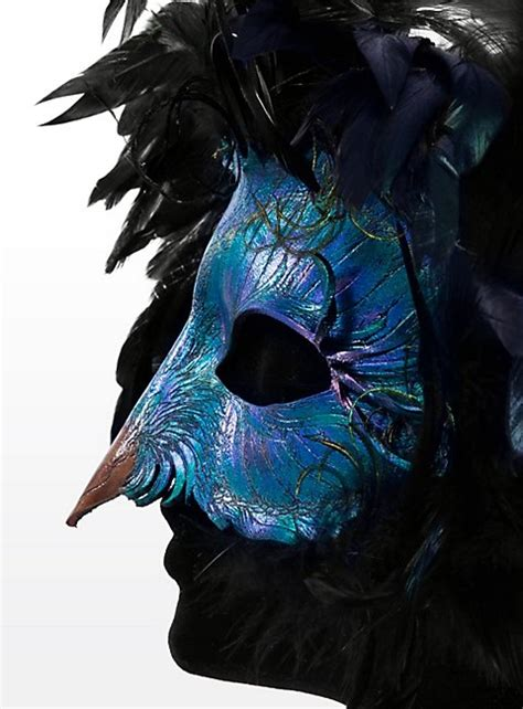 Two Masks For A Radiant by Radiant Peacock Made Of Leather Maskworld