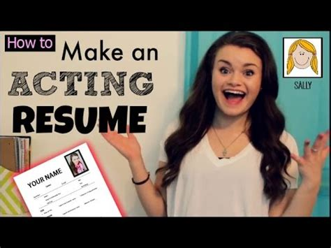 how to make an acting resume