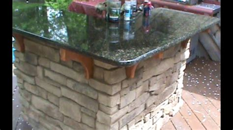 build  cultured stone outdoor bar youtube