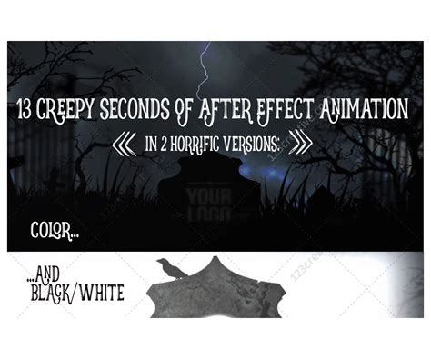 template after effects halloween free after effects template horror halloween intro animation