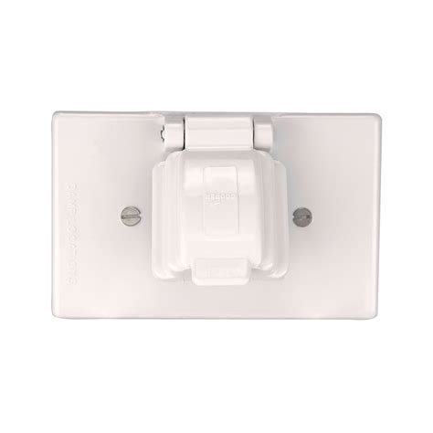 electrical outlet covers shop eaton non metallic white 1 outlet weatherproof electrical outlet cover at lowes
