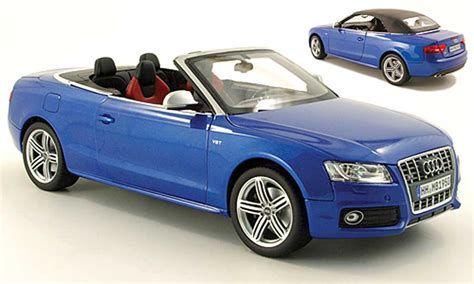 audi s5 convertible blue 2009 norev diecast model car 1 18