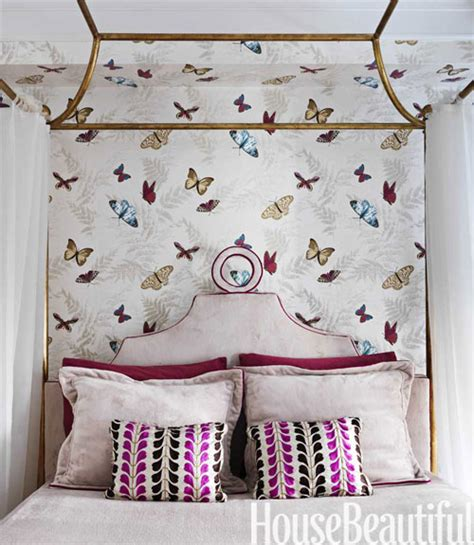 girly wallpaper bedroom whimsical butterfly themed wallpaper feels sophisticated