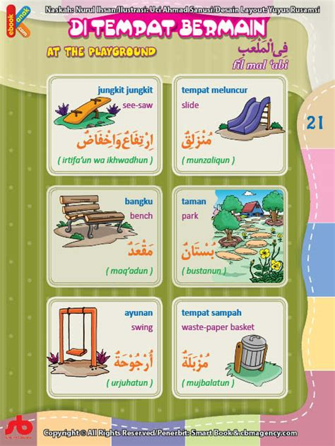 Kamus 3 Bahasa Inggris Indonesia Arab kamus bergambar anak muslim benda di tempat bermain bahasa indonesia inggris arab ebook anak