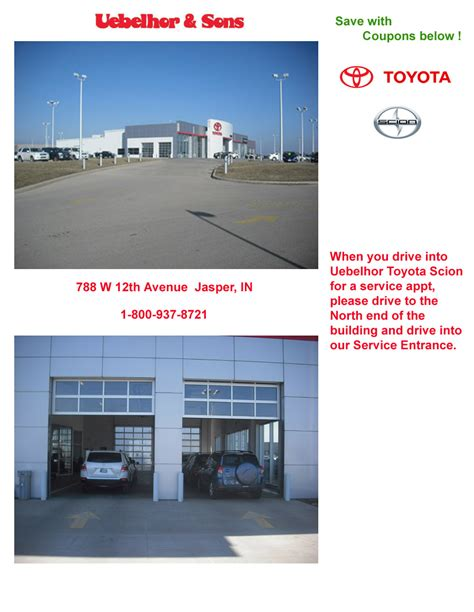 Toyota Service Appointment Schedule Vehicle Service Appointment Uebelhor Sons Toyota