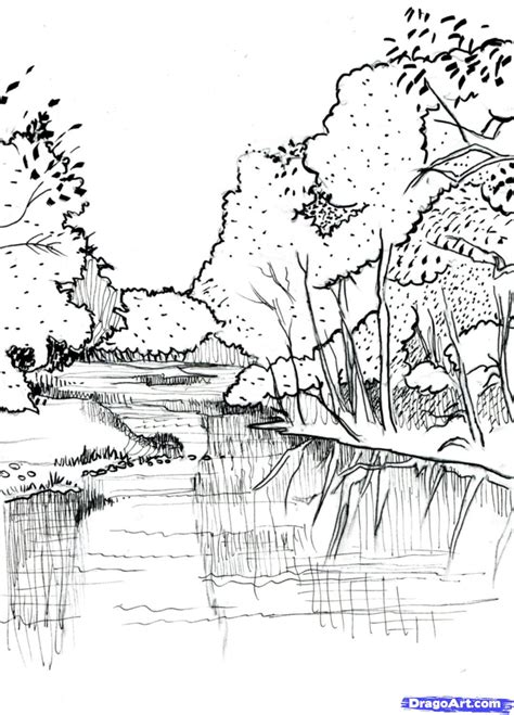 how to draw a boat in a river step 7 how to draw a realistic river