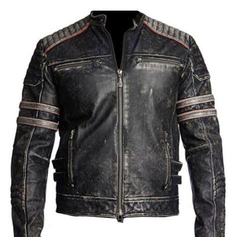 retro motorcycle jacket s vintage cafe racer black distressed retro motorcycle
