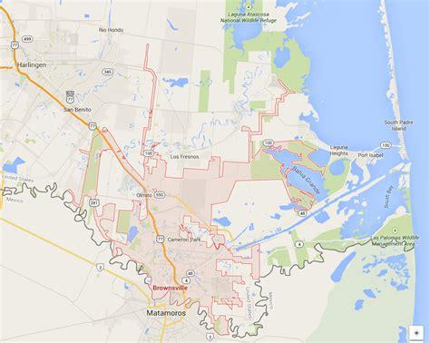 texas map brownsville brownsville texas map