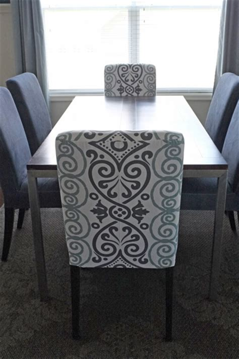 patterned chair slipcovers diy dining chair slipcovers from a tablecloth middle