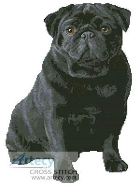 black pug cross black pug cross stitch pattern dogs