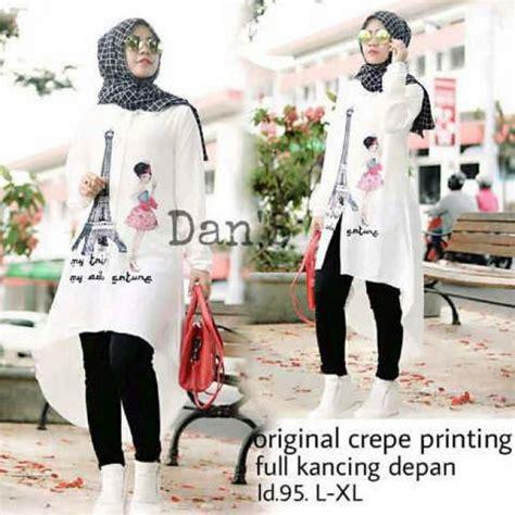 Baju Dress Dans baju muslim modern grosir baju muslim pakaian