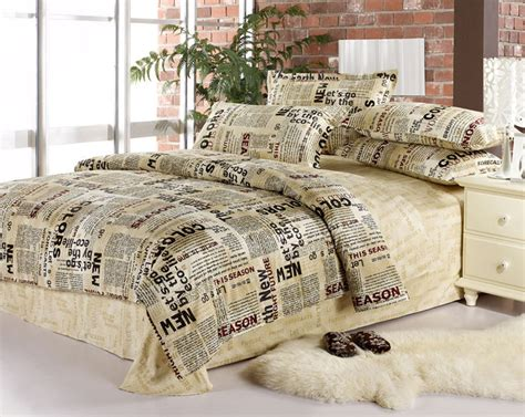 full size bed in a bag sets english newspaper bedding set queen full size quilt duvet