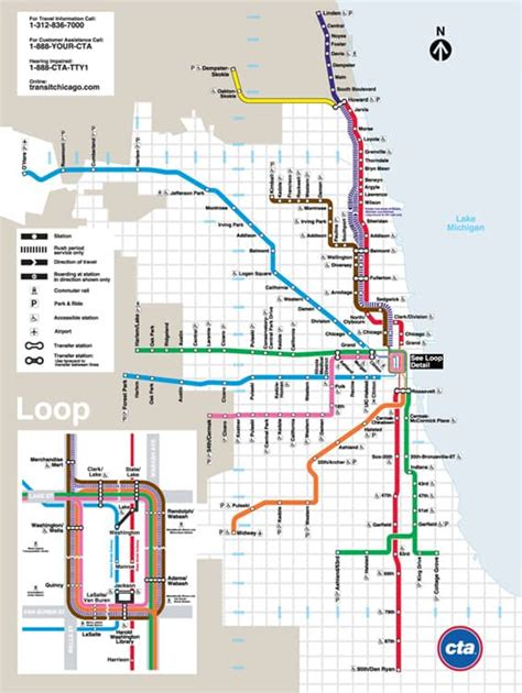chicago map pdf cta map chicago transit authority map