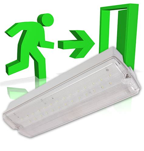 self contained exit light emergency lighting haes systems