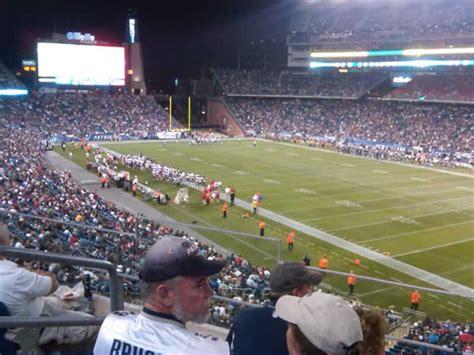 mezzanine level corner gillette stadium football seating