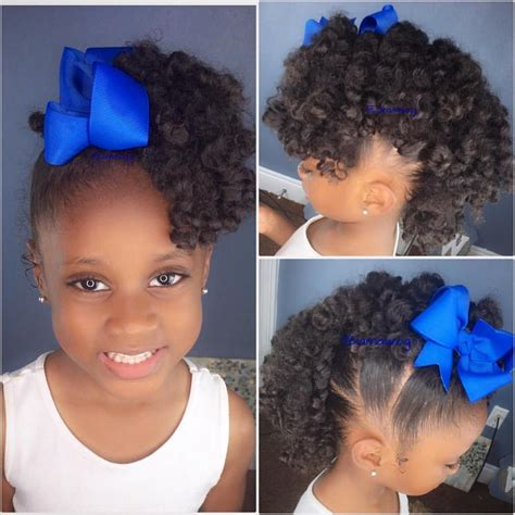 natural hair styles for 1 year olds rylei kai s hotd the curly fro hawk i used three of my