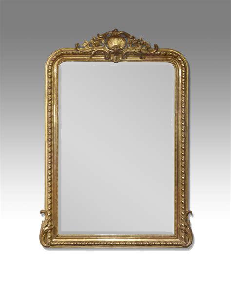antique overmantel mirror gilt overmantel mirror